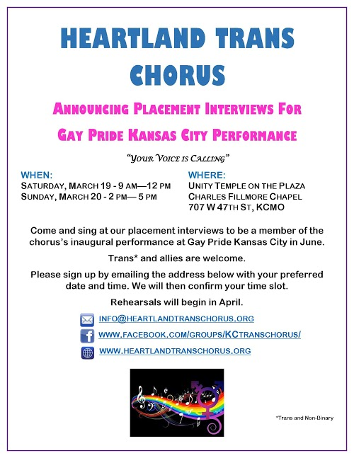 Heartland Trans Chorus Placement Interviews 2016