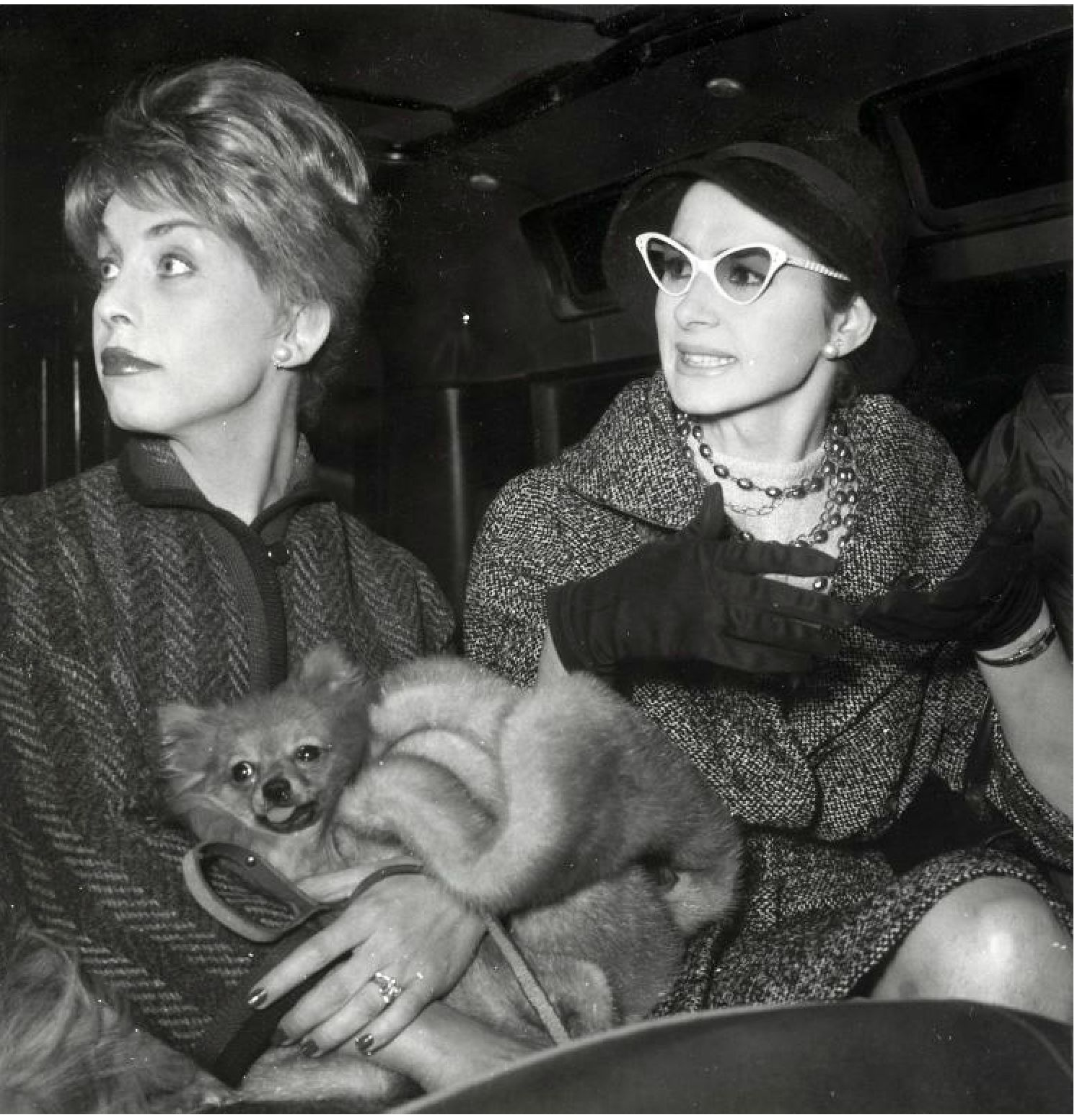 April Ashley and Kiki Moustic 1960 Rome
