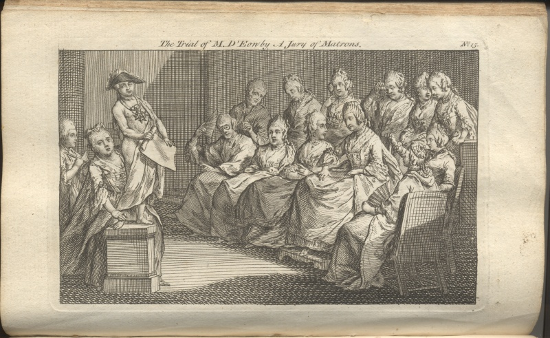 The Trial of the Chevalier D'Eon by a Jury of Matrons