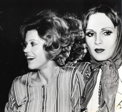 Candy Darling and Jane Fonda