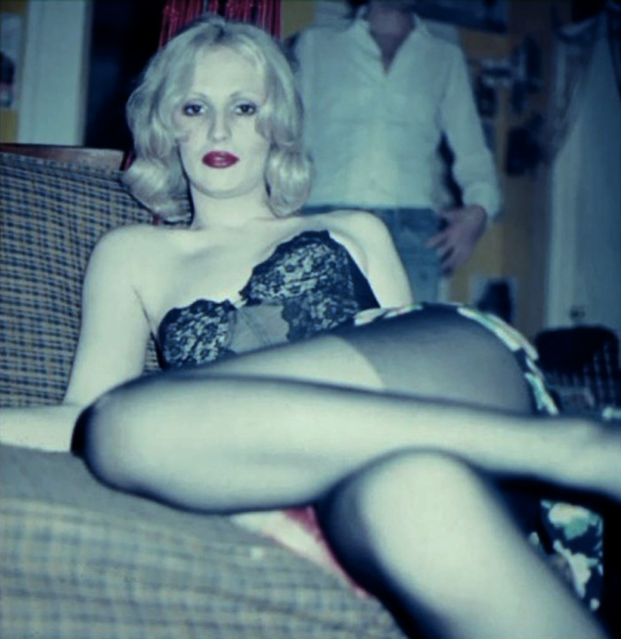 Candy Darling at a party about 1973