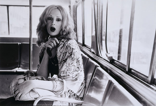 Candy Darling on a City Bus, photographed by Gerard Melanga