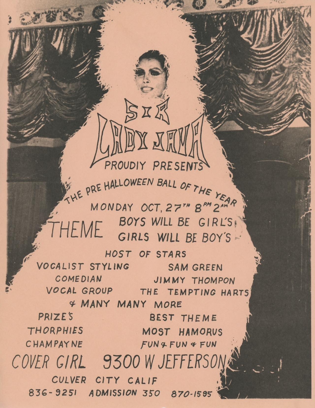 Sir Lady Java at Culver City, October 27, 1969