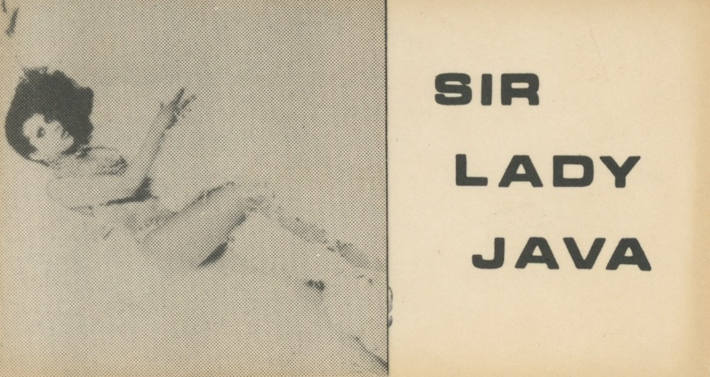 Sir Lady Java Promo Card, Obverse