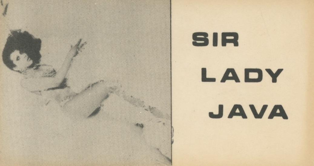 Sir Lady Java Promo Card, Obverse