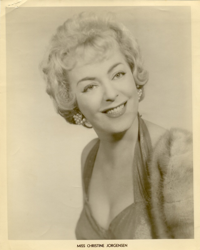 Christine Jorgensen Press Packet Photograph
