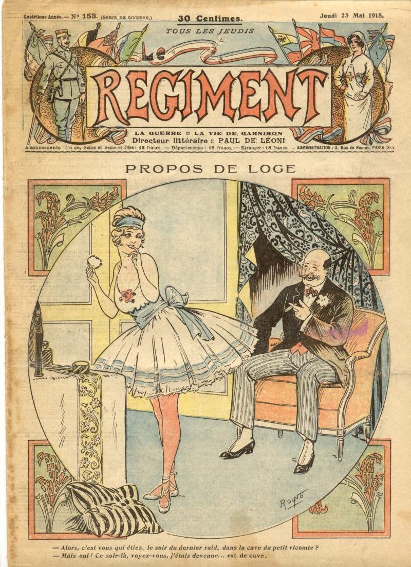 Le Regiment, May 23, 1918, Cover