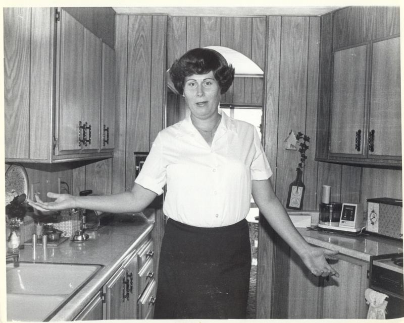 Joanna Clark at her home in 1980.