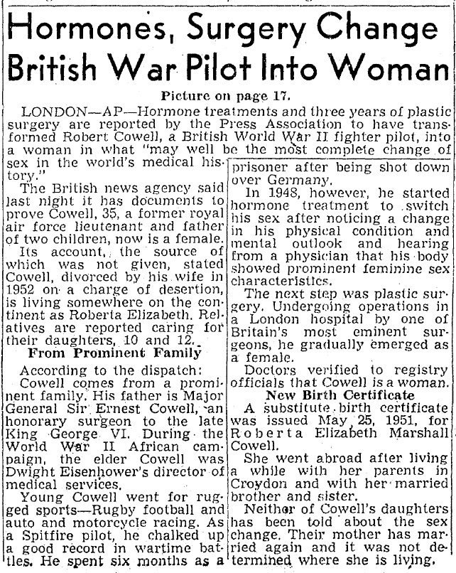 Hormones, Surgery Change British War Pilot Into Woman ...
