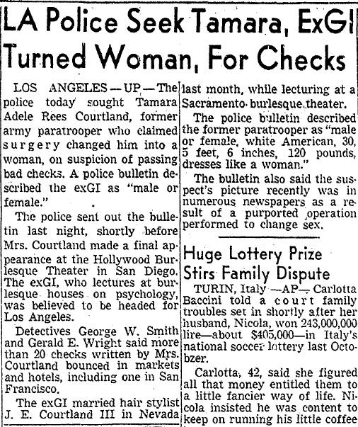 LA Police Seek Tamara, ExGI Turned Woman, For Checks ...