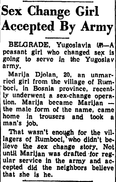 Yugoslavian transman