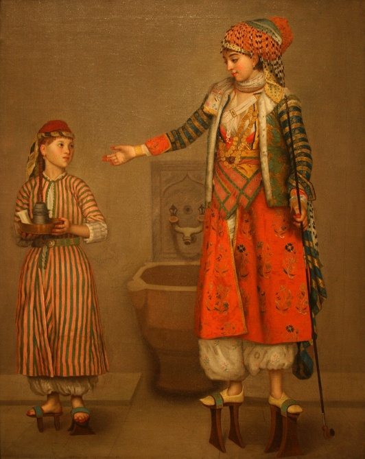 Liotard_Jean-Etienne_-_Frankish_Woman_and_Her_Servant_1750