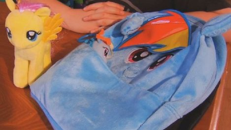 """My Little Pony"" promotes friendship, but an MLP backpack promotes bullying. Photo: WLTX"