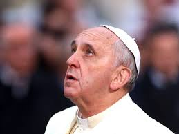 Pope Francis Looking Up